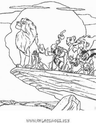 coloriage a imprimer le roi lion gratuit