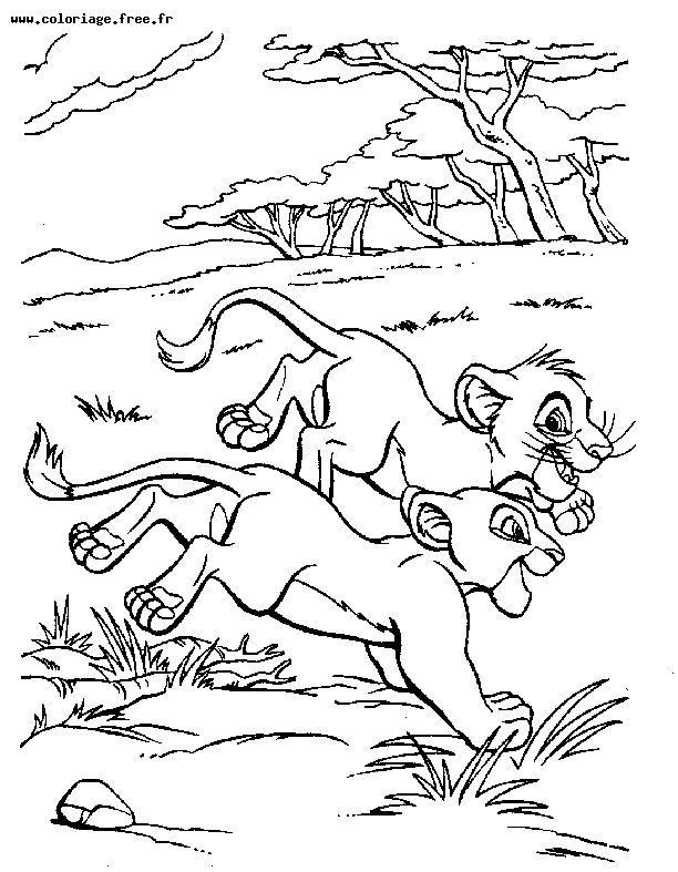 dessin roi lion 2 gratuit