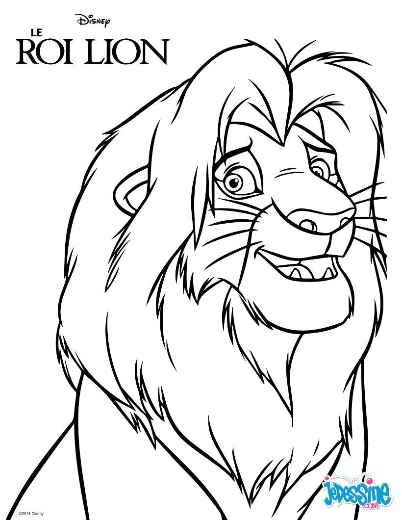 jeux dessin le roi lion