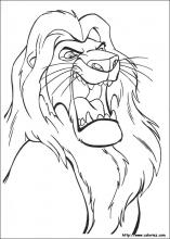 jeu dessin � colorier le roi lion