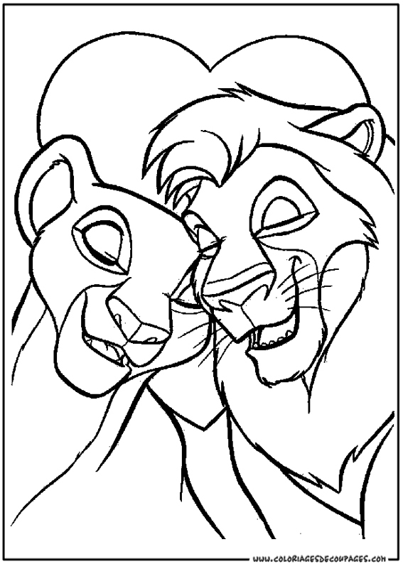 modele dessin à colorier le roi lion
