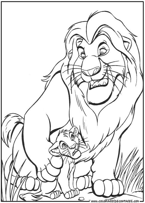 vrac coloriage à dessiner le roi lion