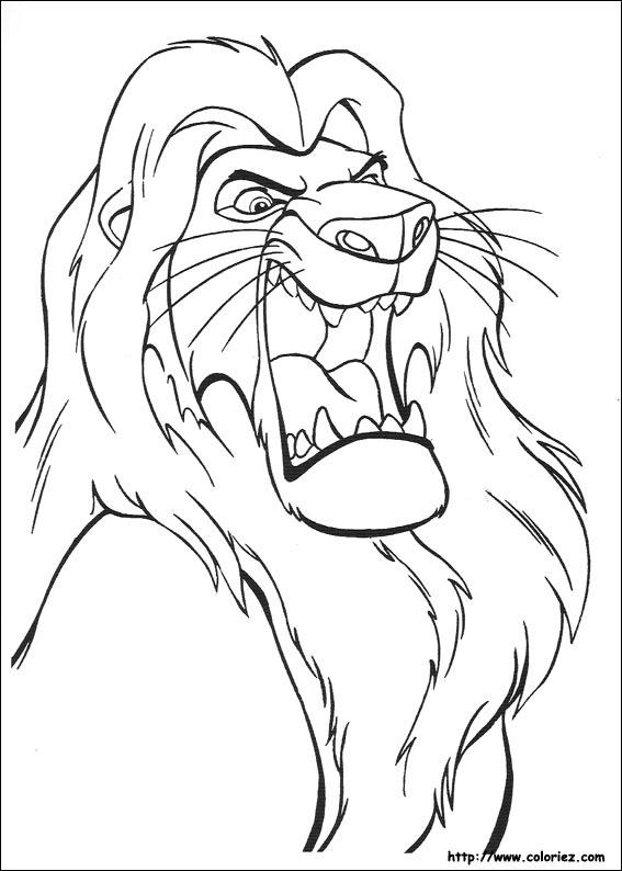 coloriage à dessiner le roi lion gratuit