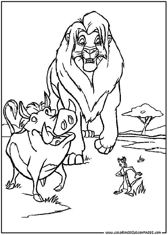 jeu de dessin à colorier le roi lion