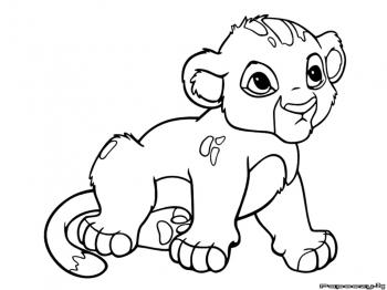 coloriage le roi lion disney