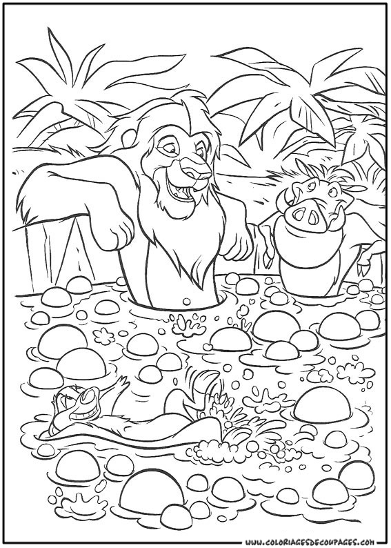 coloriage le roi lion 2