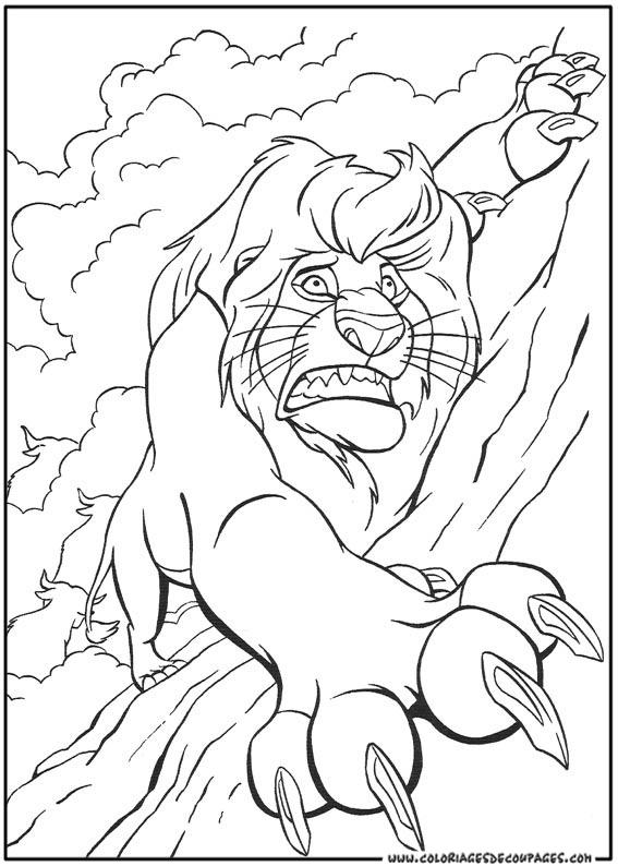 dessin a imprimer le roi lion gratuit