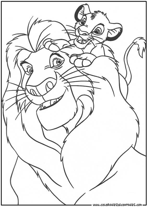dessin à colorier le roi lion scar