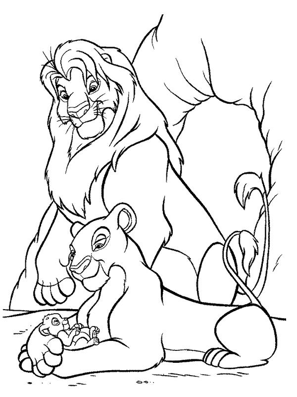dessin à colorier gratuit le roi lion a imprimer