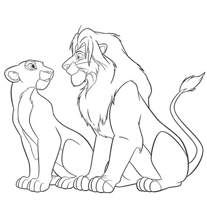 Coloriage dessiner de le roi lion 2 - Le roi lion a colorier ...