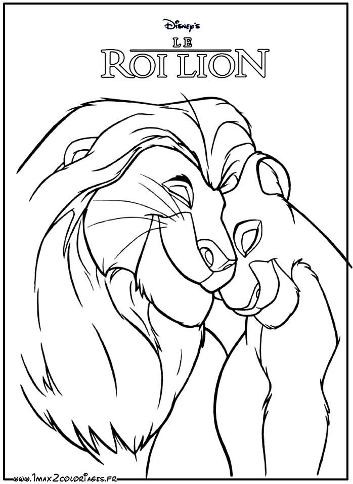 jeu coloriage le roi lion