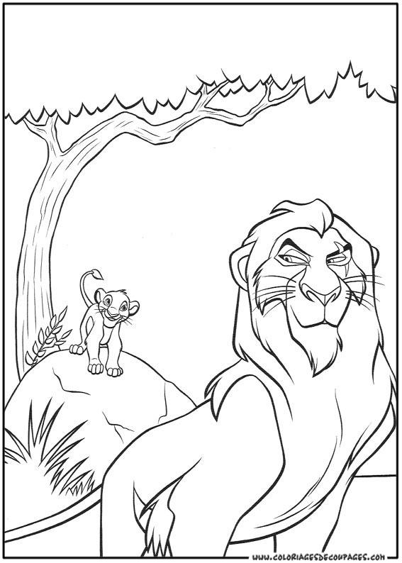 coloriage le roi lion 4