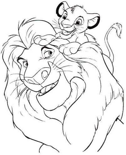 dessin le roi lion à imprimer