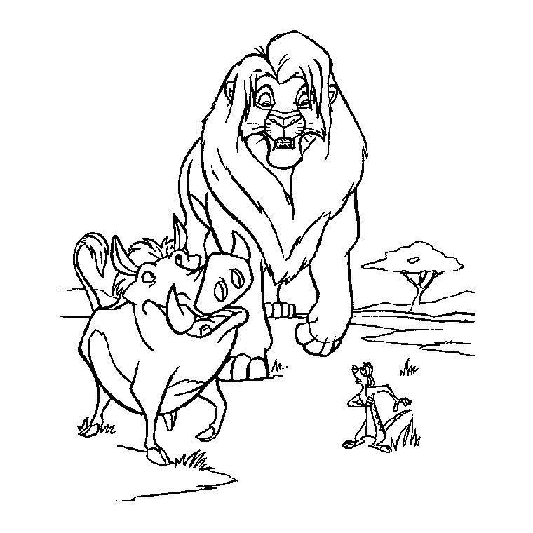 le roi lion en dessin