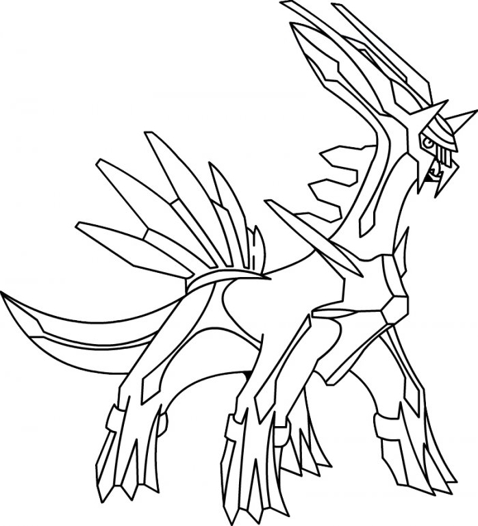 Coloriage ã Dessiner Pokemon Legendaire Viridium