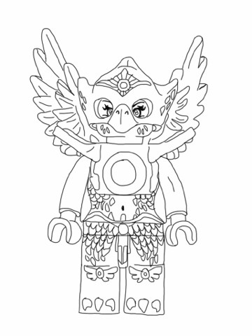 dessin à colorier magique lego chima
