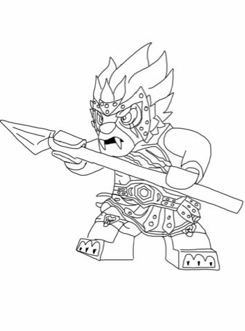 dessin à colorier lego chima saison 2