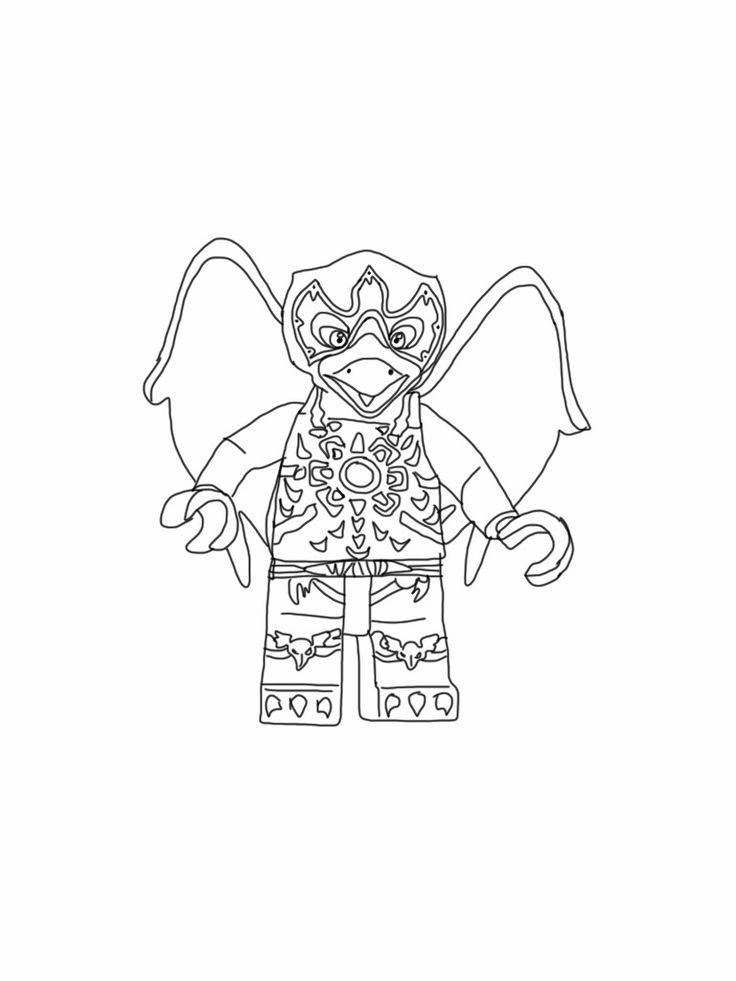 coloriage à dessiner lego chima gorzan