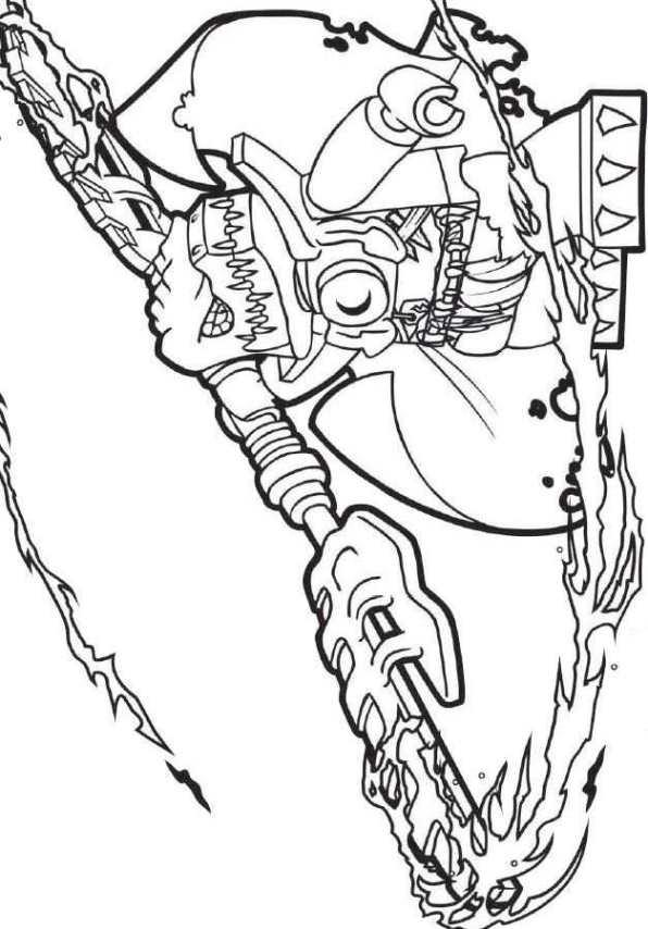dessin à colorier lego chima eris