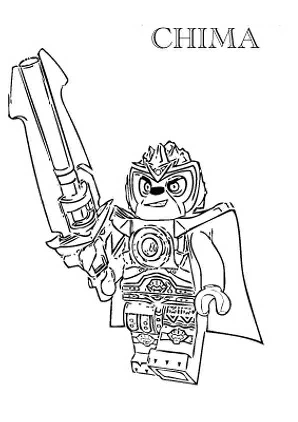 dessin dessin à colorier lego chima
