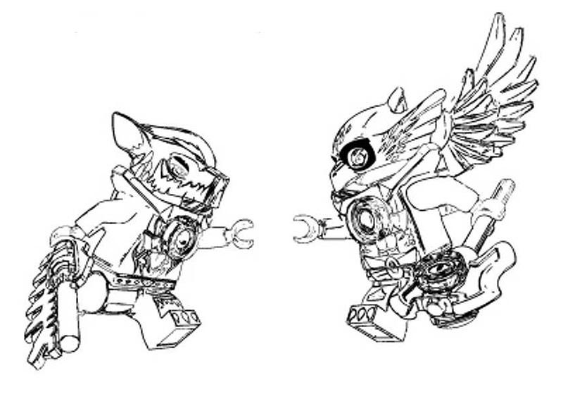 dessin à colorier lego chima scorpion