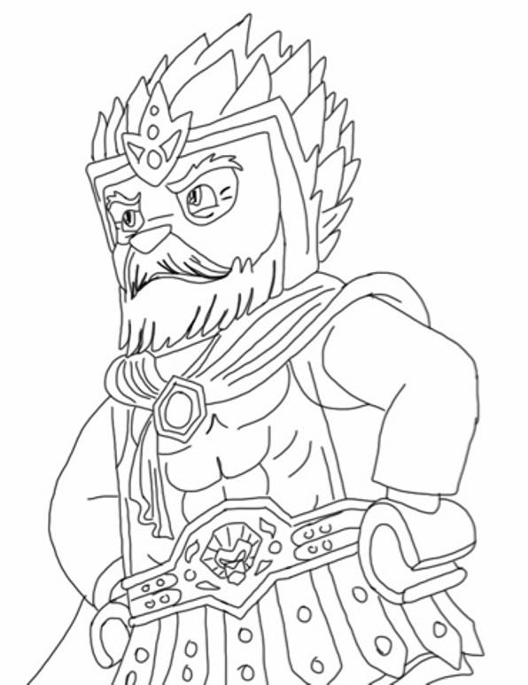 dessin à colorier lego chima saison 3