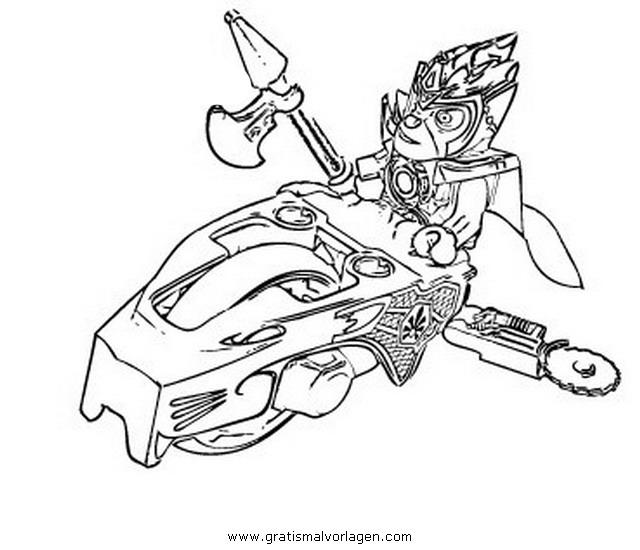 dessin à colorier lego chima feu et glace
