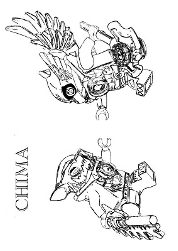 dessin à imprimer lego chima
