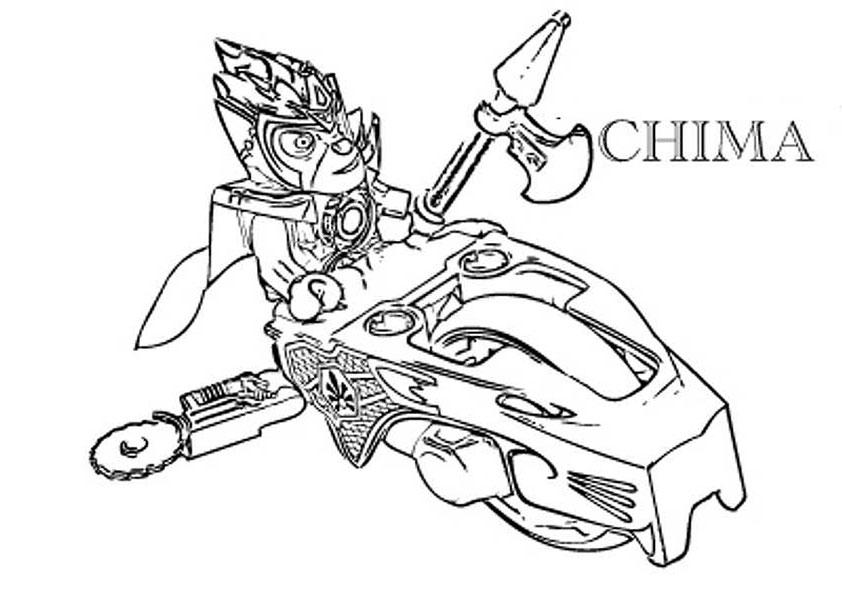 coloriage à dessiner lego chima cragger