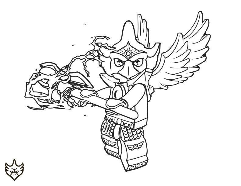 coloriage à dessiner gratuit lego chima