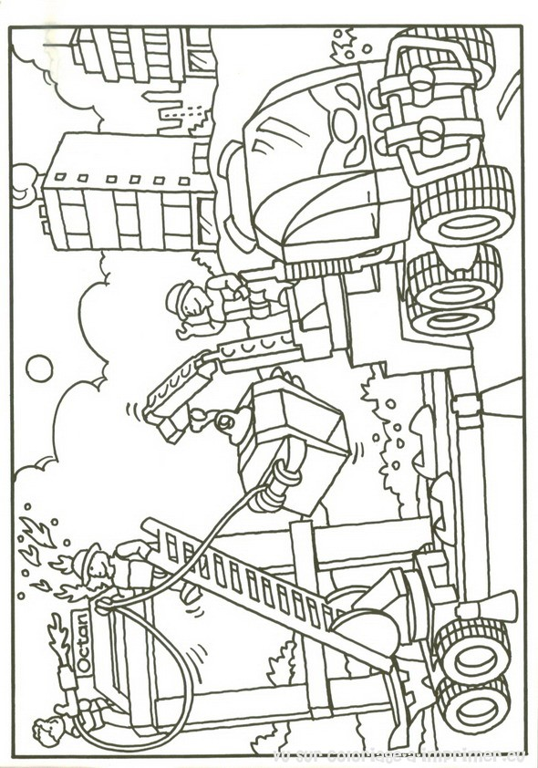 9 dessins de coloriage lego city pompier imprimer - Lego city a colorier ...