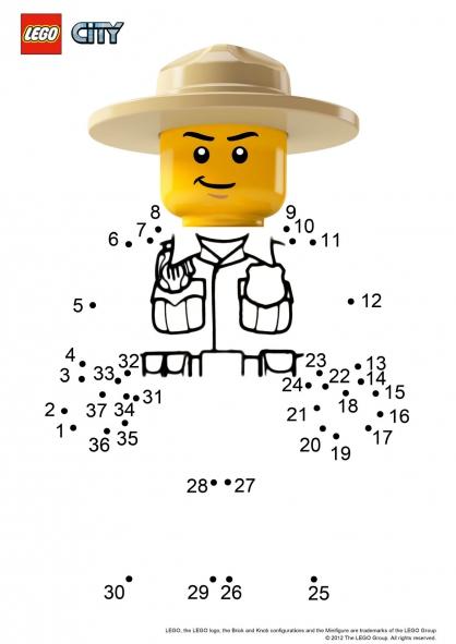 coloriage lego city pompier colorier dessin imprimer donkey jack