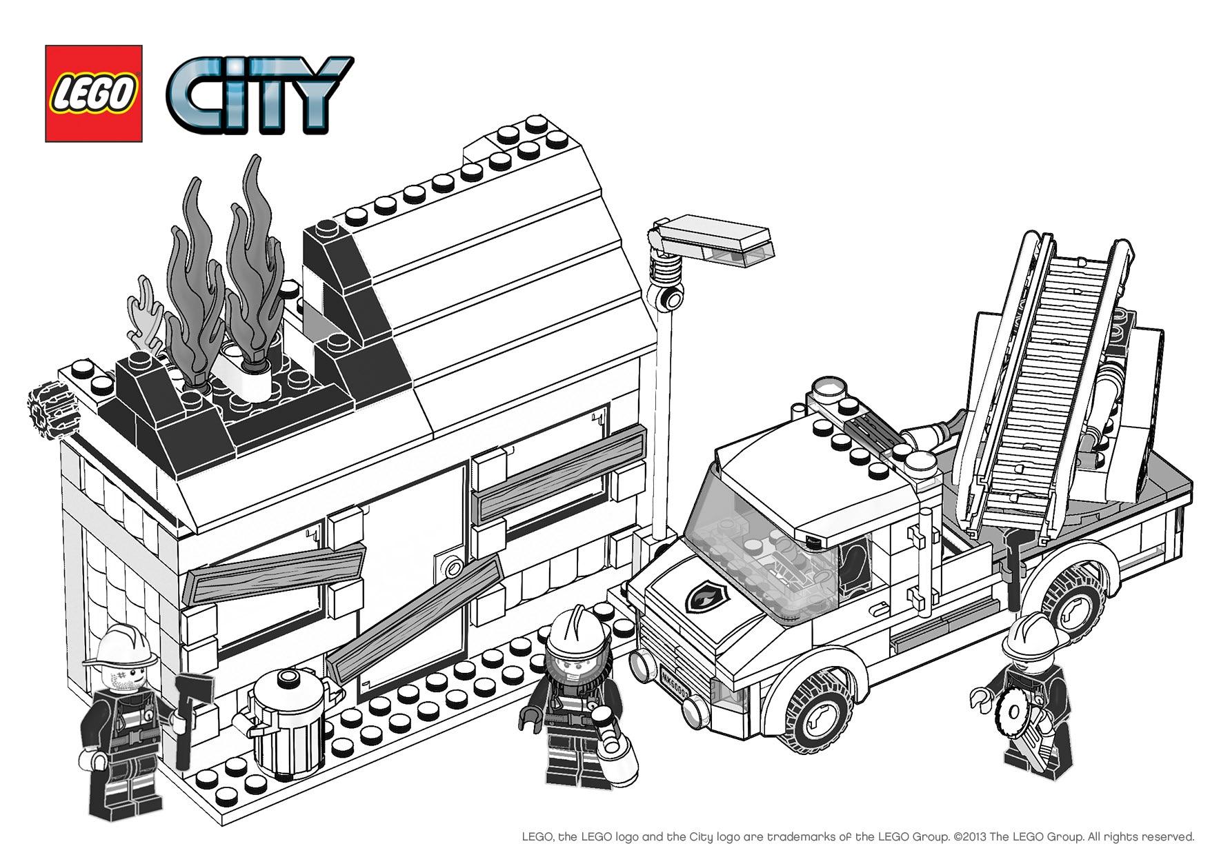 9 dessins de coloriage lego city pompier 224 imprimer