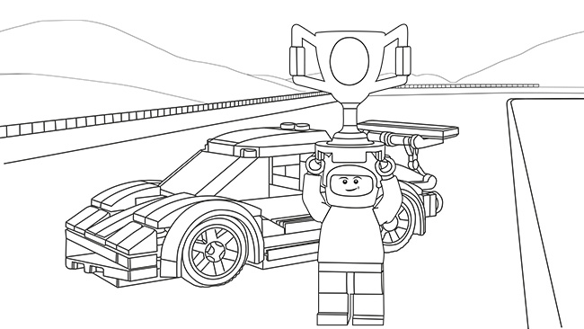 12 Dessins De Coloriage Lego City Train A Imprimer