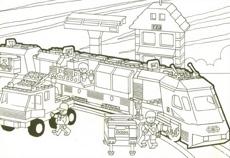 12 dessins de coloriage lego city train imprimer - Dessin lego a colorier ...