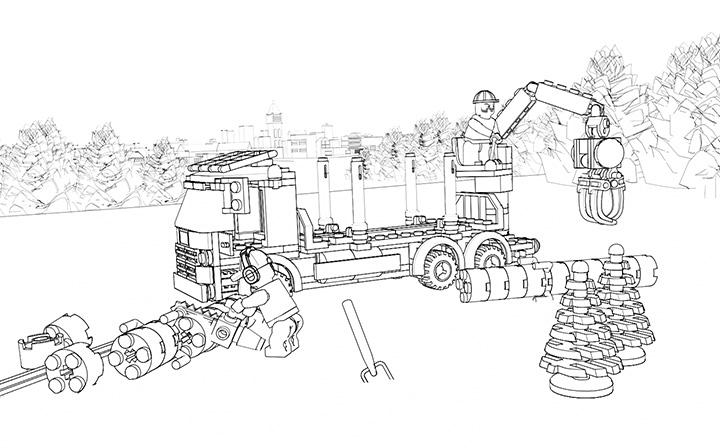 14 dessins de coloriage lego city travaux imprimer - Coloriage de lego city ...