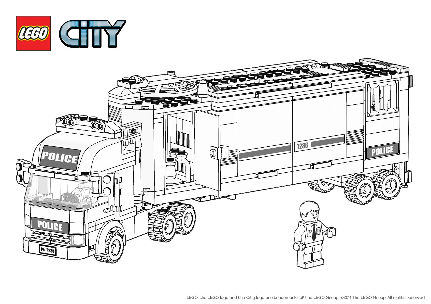 13 dessins de coloriage lego city undercover imprimer - Lego city a colorier ...