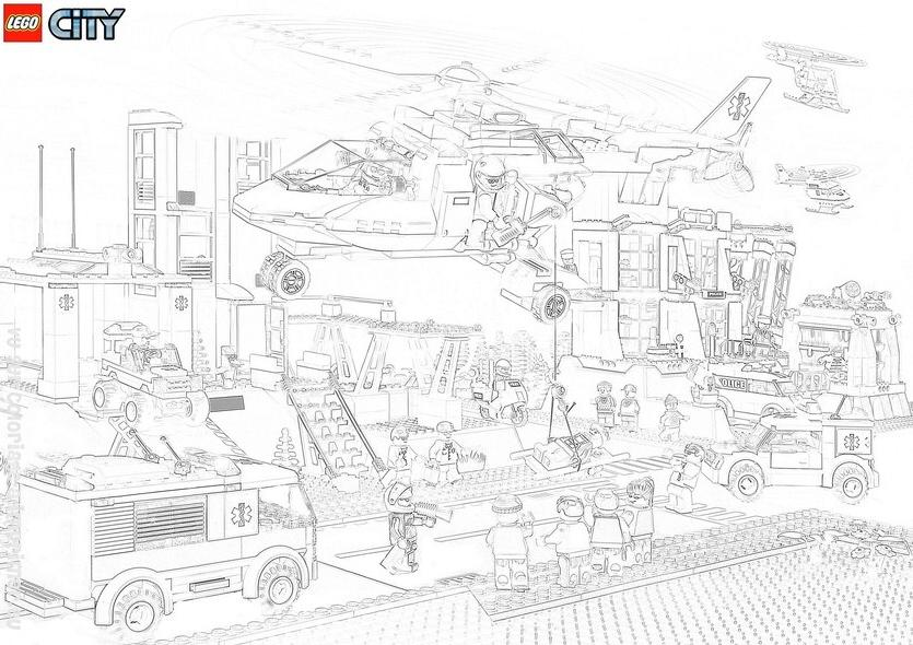 45 Dessins De Coloriage Lego City A Imprimer