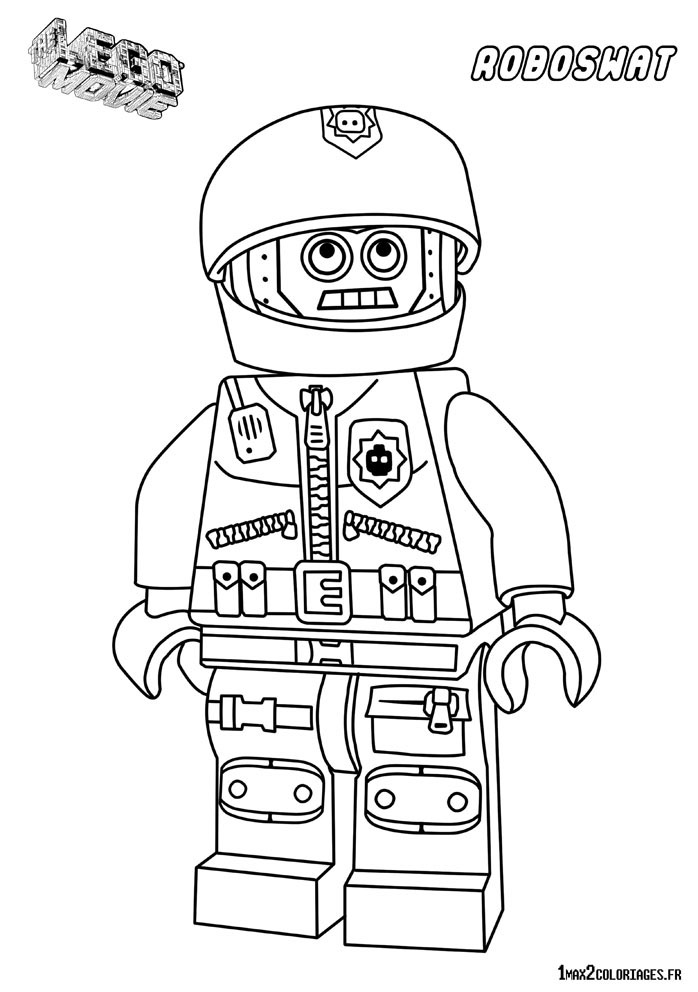 Dessin personnage lego city - Robot coloriage ...