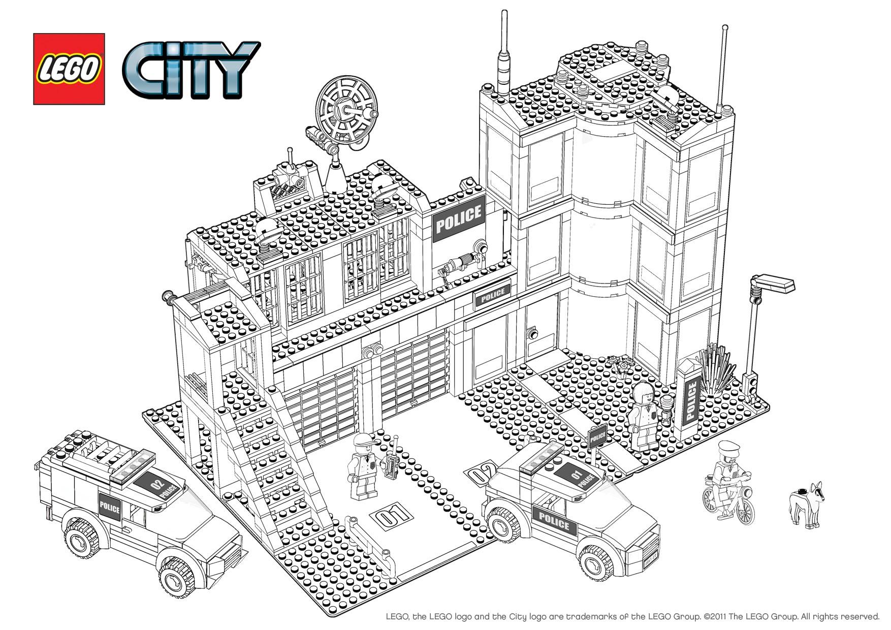 dessin lego city à imprimer