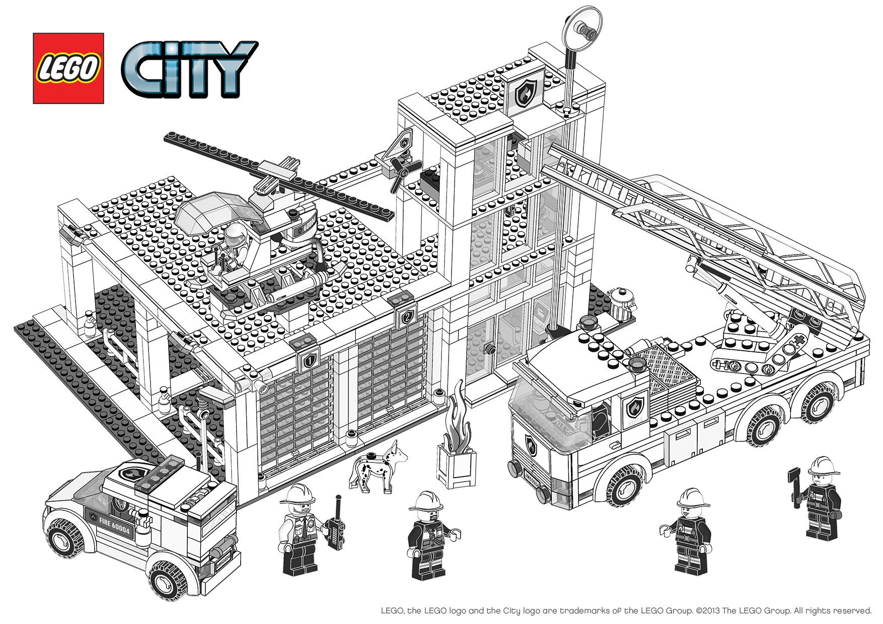 48 Dessins De Coloriage Lego City A Imprimer
