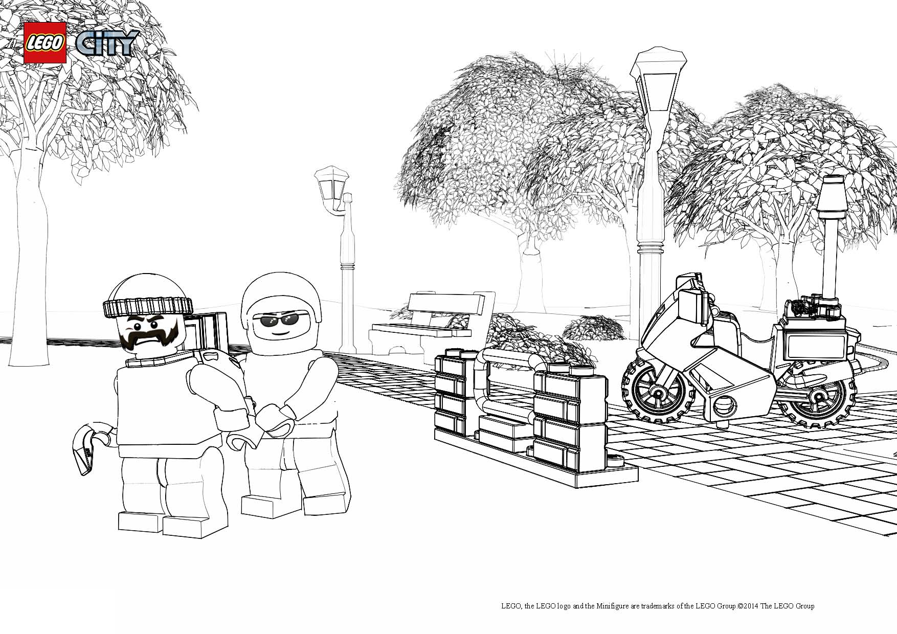 48 Dessins De Coloriage Lego City à Imprimer