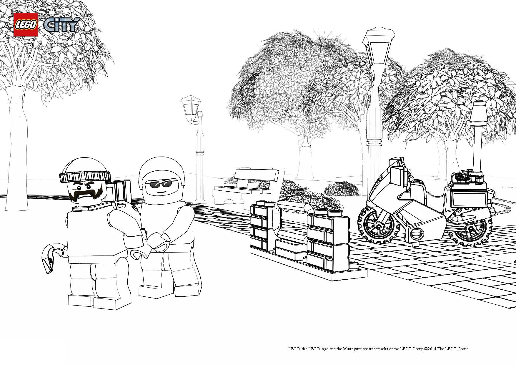 dessin de lego city a imprimer