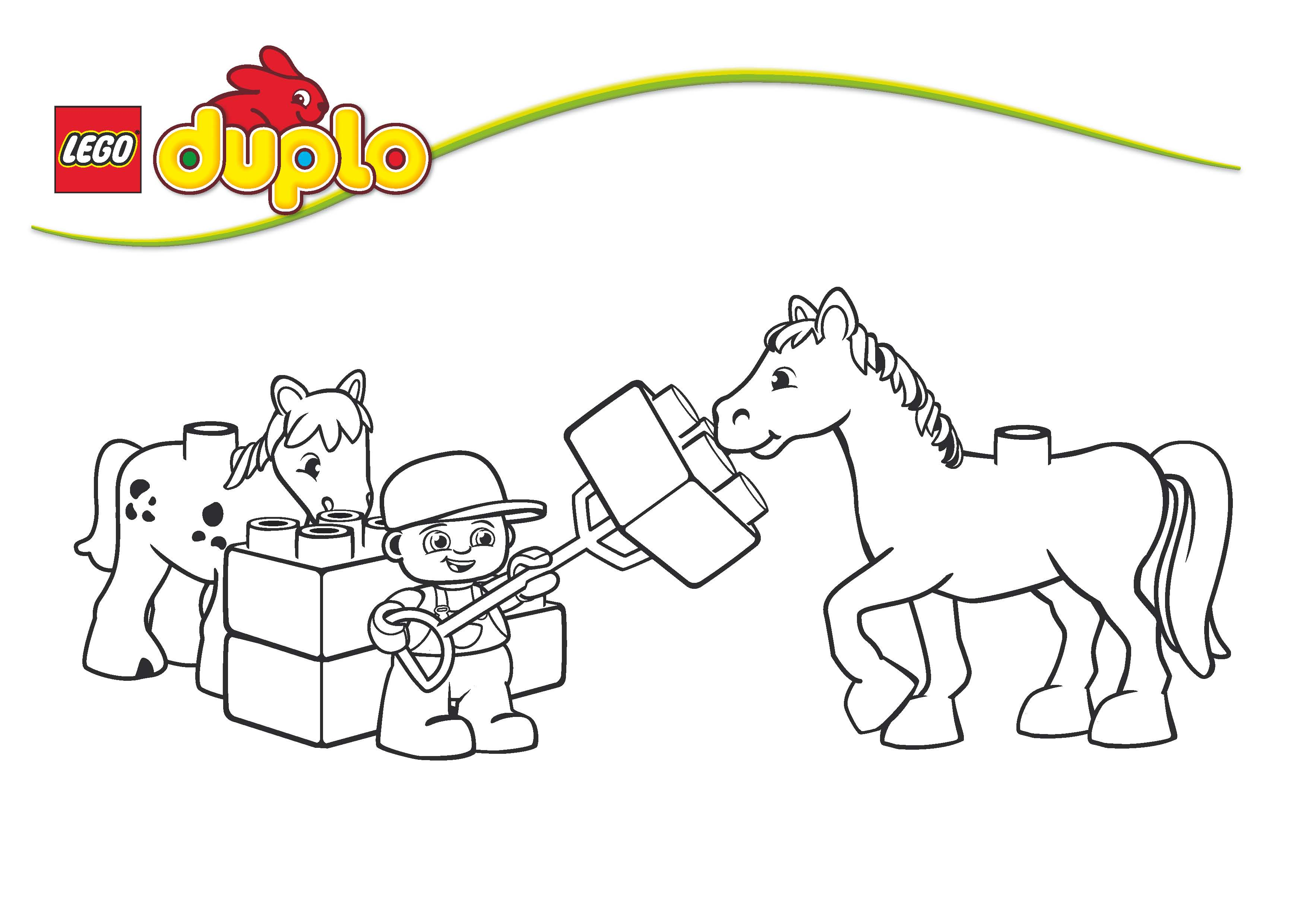 coloriage lego friends cheval