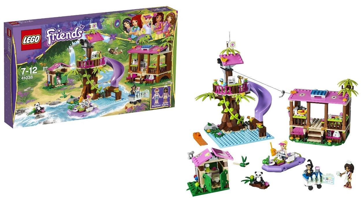 coloriage lego friends jungle