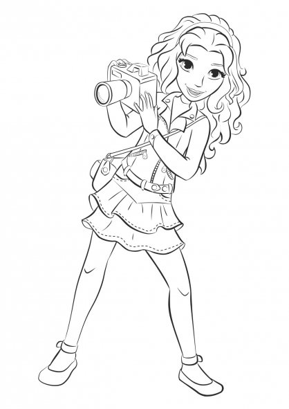 11 Dessins De Coloriage Lego Friends Noel 224 Imprimer