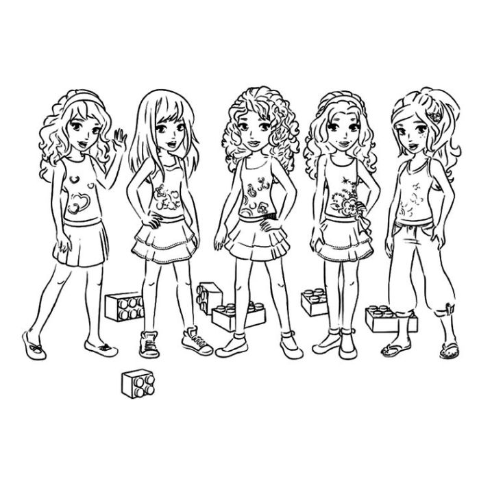 Coloring Pages Lego Friends