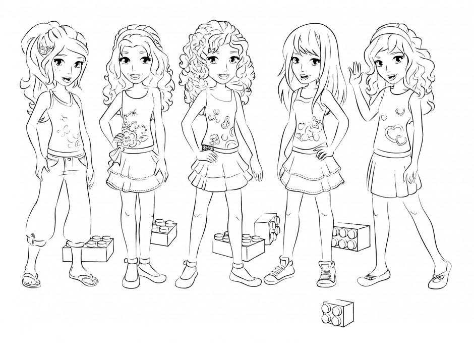 coloriage à dessiner lego friends à imprimer