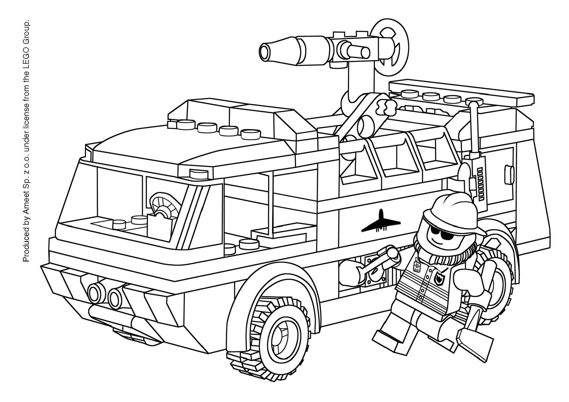coloriage à dessiner lego friends en ligne