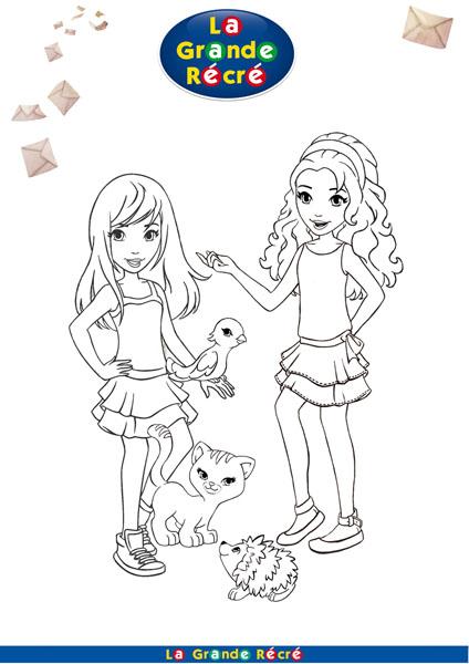 coloriage à dessiner de lego friends sur ordinateur